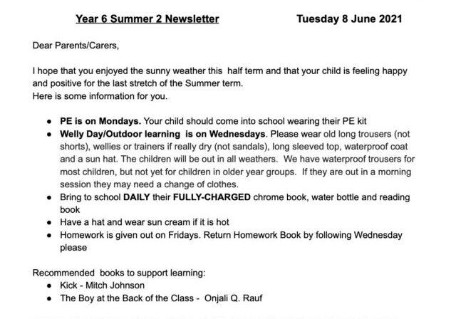 Year 6 Summer 2 Curriculum Map